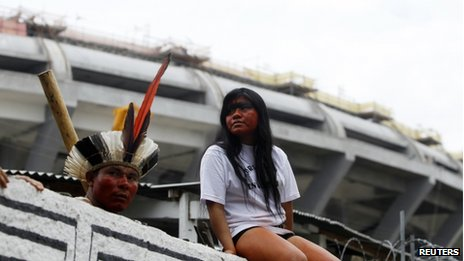 Indigenous community next to Maracana, Rio