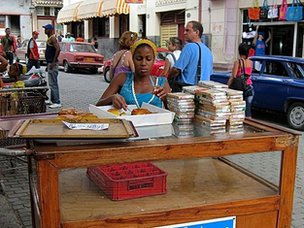 Cake seller in Old Havana