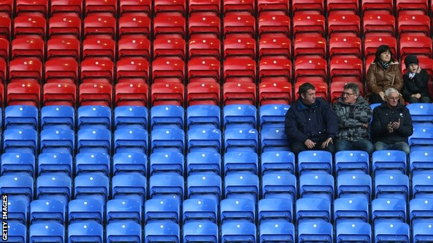 Empty seats abound at Bolton's FA Cup match with Sunderland this month