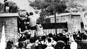 The storming of the US embassy in Tehran in November 1979