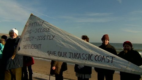 Navitus Bay protest in Swanage