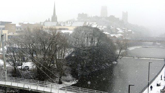 Snow in Durham