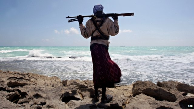 An armed Somali pirate