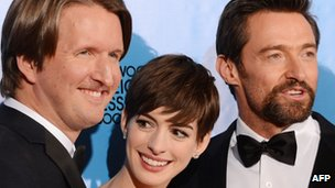 Tom Hooper, Anne Hathaway, Hugh Jackman
