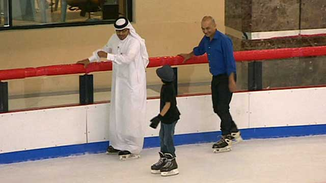 Hamad and Rajan skating