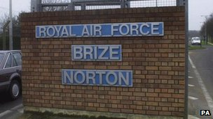 RAF Brize Norton sign