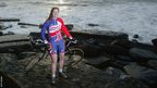 Nicole Cooke poses at Southerndown ahead of the 2004 Athens Olympics, where she finished fifth