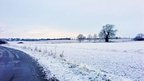 Snow over Great Steeping, Lincolnshire