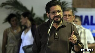 Colombia&#039;s Farc negotiator Ivan Marquez