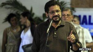 Colombia's Farc negotiator Ivan Marquez
