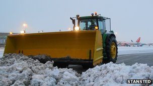 Snow plough at Stansted airport