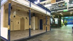Empty stall at Kirkgate Market where M&S is to open a stall