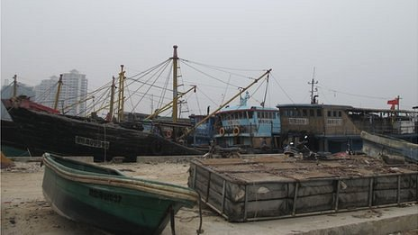 Boats in Tanmen port, Hainan, China