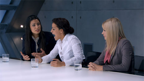 Boardroom scene in The Apprentice
