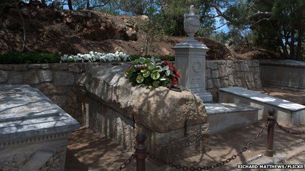 Garibaldi's grave in Caprera