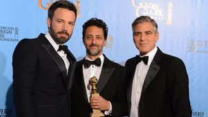 Ben Affleck and Argo producers Grant Heslov and George Clooney