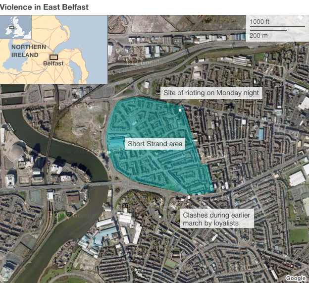 Short Strand is a nationalist enclave in loyalist east Belfast