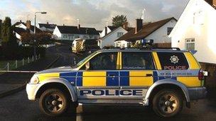 Scene of Ballymena stabbing