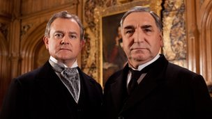 Hugh Bonneville and Jim Carter
