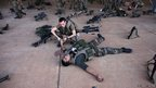 French soldiers perform emergency first aid