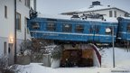 Train crashed into a residential building in Saltsjobaden