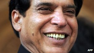 The nominated candidate for prime minister from the ruling Pakistan People's Party (PPP), Raja Pervez Ashraf