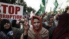 Supporters of Pakistani cleric Tahirul Qadri in Islamabad, 15 January 2013