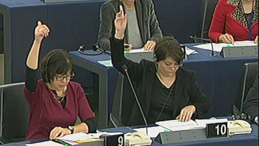 MEPs voting