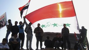 Sunni demonstrators in Fallujah on 4 Jan 2013