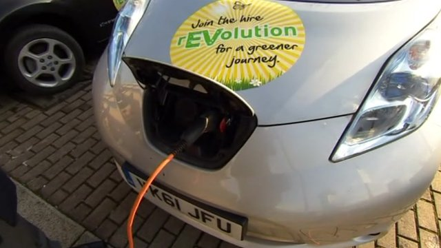 Charging an electric car in Milton Keynes