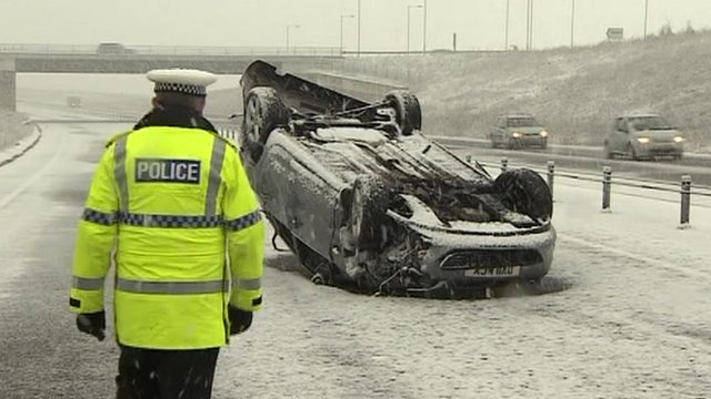 Overturned car