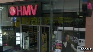 HMV store in Dundee