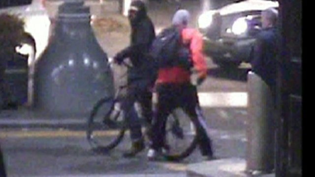 Bike thief suspect and owner