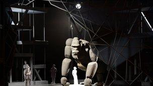 Mock up of the animatronic gorilla