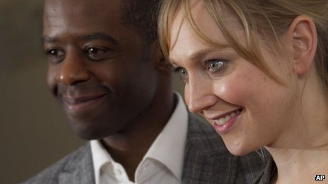Adrian Lester and Hattie Morahan at the Critics' Circle Theatre Awards
