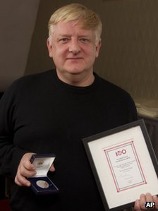 "Simon Russell Beale holds the award for Best Shakespearean Performance following the Critics"" Circle Theatre Awards"
