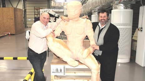 Sculptor Steve Mehdi and business partner Paul Blackburn