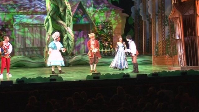 The performance of Jack and the Beanstalk at Southampton's Mayflower Theatre