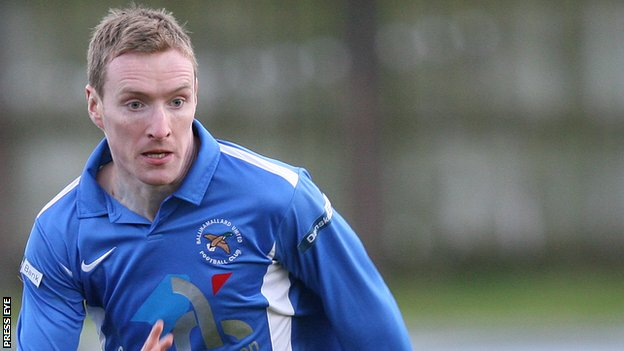 Chris Curran scored two for Ballinamallard United at Coleraine