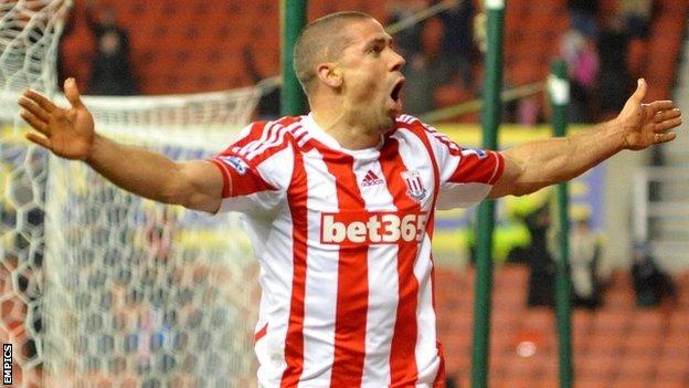 Stoke goalscorer Jon Walters