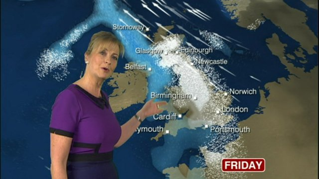 Heavy snow predicted for UK on Friday
