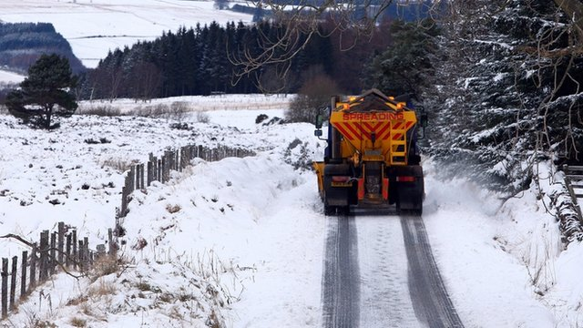 Gritter on road