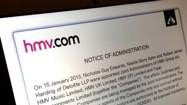 The HMV website