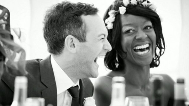 Wedding photo of Ben Brooks-Dutton and his wife Desreen