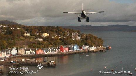 Seaplane on the Isle of Mull