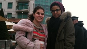 Hiam Aldroubi and Reem Binkhamis
