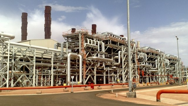 Amenas natural gas field in the eastern central region of Algeria