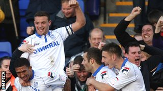 Tranmere Rovers captain James Wallace