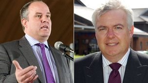Andrew RT Davies and Carwyn Jones
