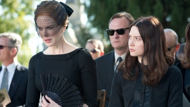 Nicole Kidman and Mia Wasikowska in a scene from Stoker